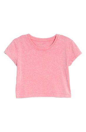 Sundown by Splendid Slub Jersey Crop T-Shirt | pink