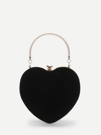 Heart-shaped Wallet With Ring Handle