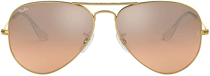 Amazon.com: RB3025 Aviator Classic Gradient Sunglasses, Gold/Pink Mirror Gradient, 58 mm: RAYBAN: Clothing