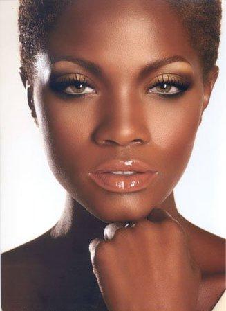 Gold Eye Makeup dark skin