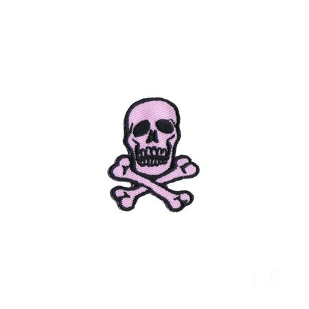 1 1/2 INCH Skull Crossbones Black On Light Pink Patch Poison | Etsy