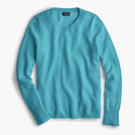J.Crew: Long-sleeve Everyday Cashmere Crewneck Sweater blue