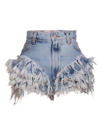 Denim Frilled Shorts