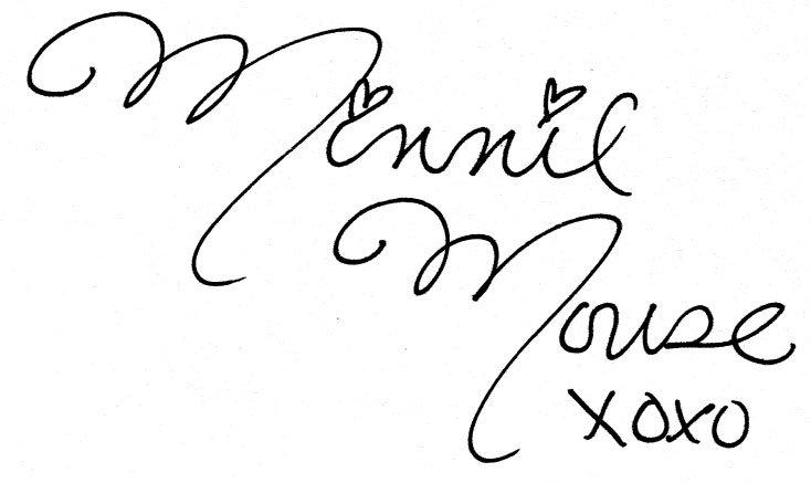 minnie mouse signature - Google Search