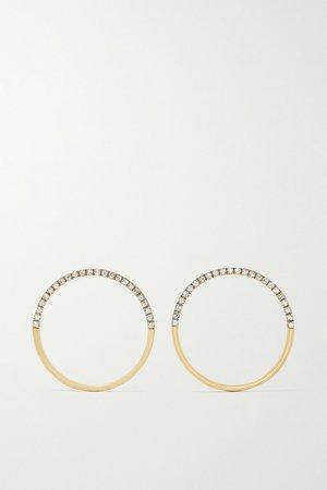 Gold 14-karat gold diamond hoop earrings | Mateo | NET-A-PORTER