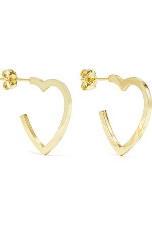 Jennifer Meyer | Small Open Heart 18-karat gold hoop earrings | NET-A-PORTER.COM