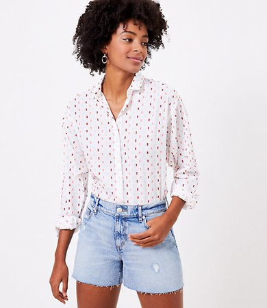 Petite Clip Relaxed Shirt