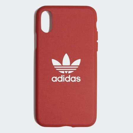 adidas Fabric Snap Case iPhone X - Orange | adidas US