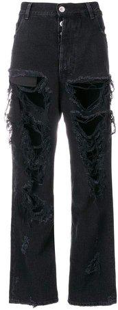 Unravel Project rigid denim baggy boy jeans