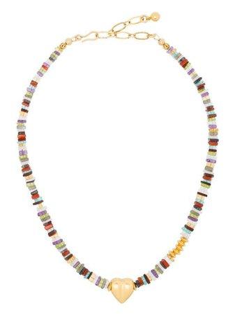 Brinker & Eliza Heart Pendant Gemstone Necklace - Farfetch