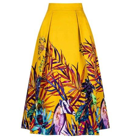 Savannah African Print Midi Skirt | Sika'a | Wolf & Badger