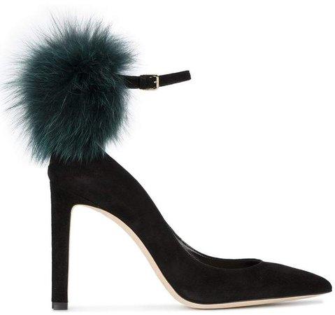 Black South 105 Fur pumps
