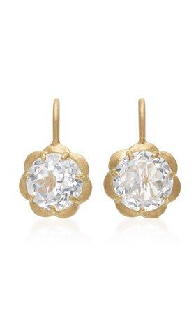 18k Gold And White Topaz Earrings By Jamie Wolf | Moda Operandi
