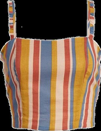 Cute Striped Crop Top