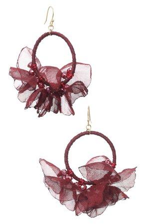 Stella + Ruby Melody Chiffon Hoop Earrings | Nordstrom