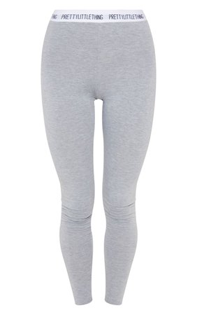 PRETTYLITTLETHING Grey Leggings | PrettyLittleThing USA