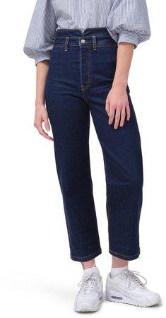 Ribcage High Waist Ankle Straight Leg Jeans
