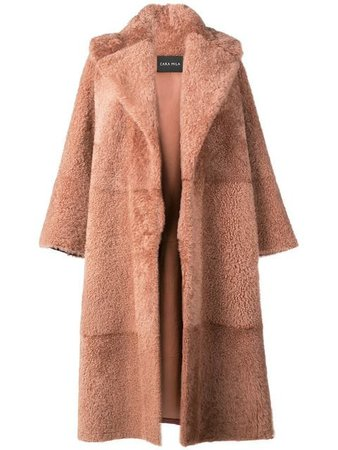 Cara Mila Gigi Oversized Shearling Coat - Farfetch