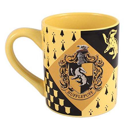 Amazon.com | Silver Buffalo HP7432 Harry Potter Hufflepuff House Crest Ceramic Mug, 14-Ounces: Coffee Cups & Mugs