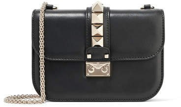 Garavani Lock Small Leather Shoulder Bag - Black