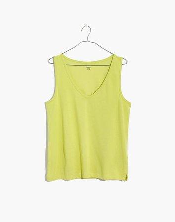 Tomboy V-Neck Tank Top yellow