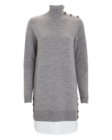 Veronica Beard Soval Layered Sweater Dress | INTERMIX®