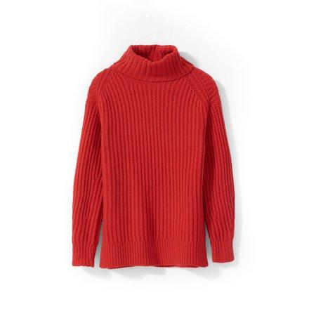 The Italian Soft Wool Rib Turtleneck