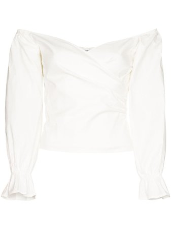 Reformation | Ristretto off-the-shoulder blouse