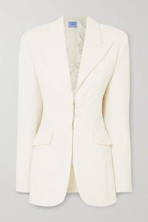 White Wool blazer | Mugler | NET-A-PORTER