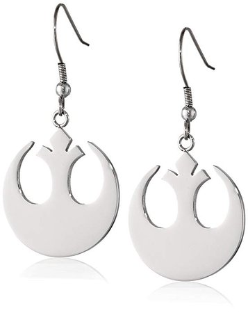Amazon.com: Star Wars Jewelry Rebel Alliance Stainless Steel Dangle Hook Drop Earrings (SALES1SWMD): Clothing