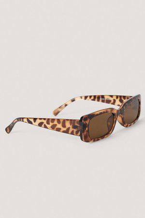 Wide Retro Look Sunglasses Brun | na-kd.com