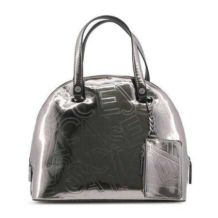 Fashiontage - Versace Grey Patent Leather Handbag - 836374429757