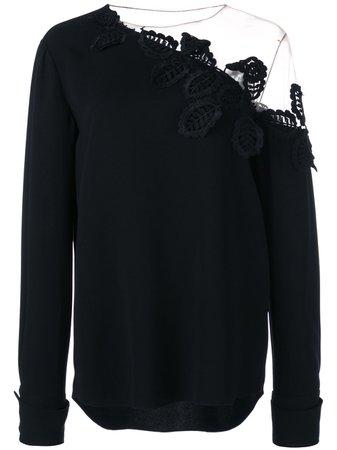 Oscar de la Renta, embroidered off shoulder blouse