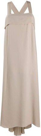 Asymmetric Hem Silk Dress