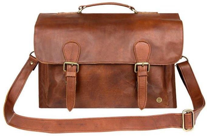 MAHI Leather - Leather Messenger Satchel Bag In Vintage Brown