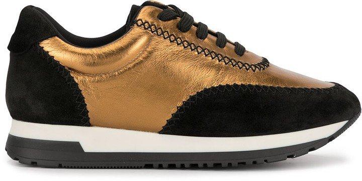 Metallic Leather Sneakers