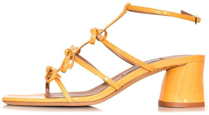 Covie Sandal in Yellow Patent