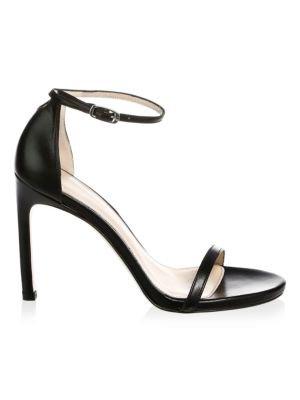 Stuart Weitzman Nudistsong Ankle-Strap Leather Sandal