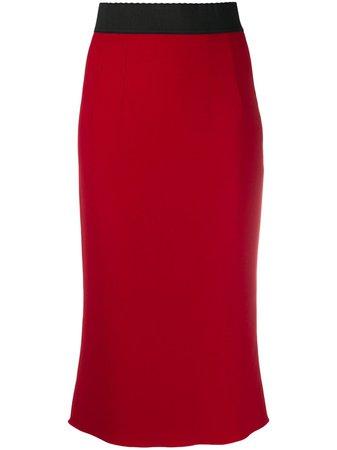 Dolce & Gabbana High Waist Pencil Skirt - Farfetch