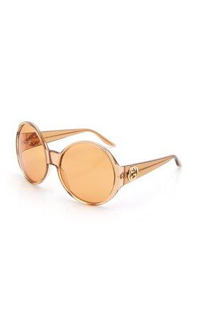 Acetate Round Frame Sunglasses By Gucci | Moda Operandi