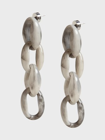 Resin Link Earrings in Gray | Banana Republic