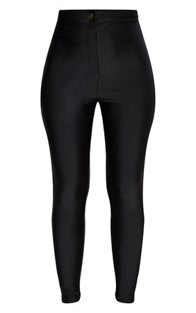 Black Disco Trouser   Trousers   PrettyLittleThing