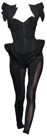 Black Futuristic Jumpsuit (edit by alldressedupbutnowheretogo)