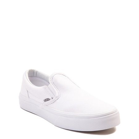 Vans Slip On Skate Shoe - Little Kid - White | Journeys