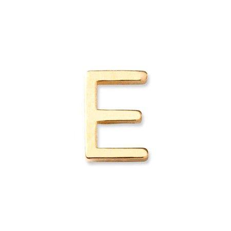 14K Gold Letter E Stud