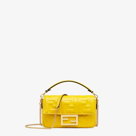 Yellow leather mini-bag - BAGUETTE   Fendi