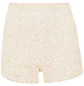 Cotton-blend Macrame Lace Shorts