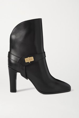 Eden Leather Ankle Boots - Black