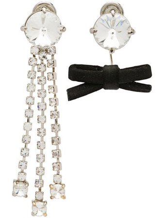 Miu Miu crystals and bow earrings $570 - Shop SS19 Online - Fast Delivery, Price