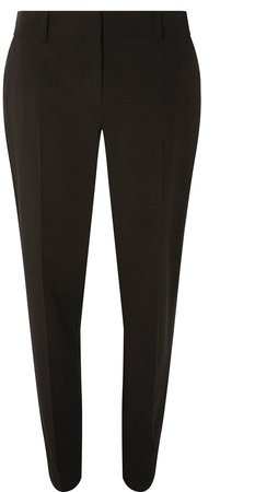 **Tall Black Split Hem Ankle Grazer Trousers
